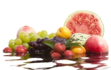 水中水果图片