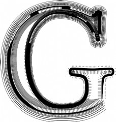 字体说明字母G