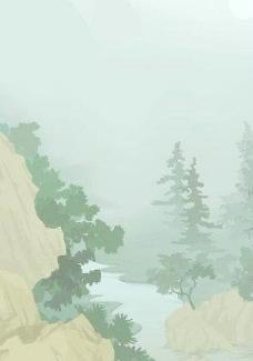 韩国矢量风景图