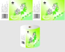 卫生纸包装展开面设计图片