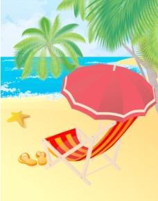 热带海滩向量