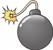 有趣的炸弹矢量插画