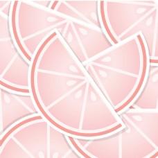 粉红葡萄柚楔背景/卡矢量格式