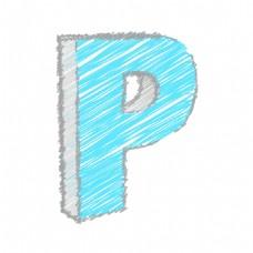 涂鸦P字母矢量