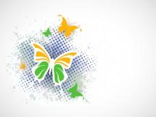 印度国旗蝴蝶创作背景
