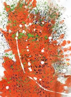 喷溅橙色水彩背景