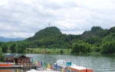 码头 湖水图片