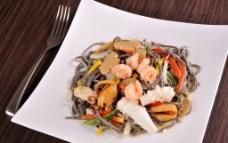 鲜虾米粉图片