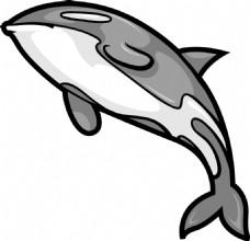 向量的鲸鱼的吉祥物