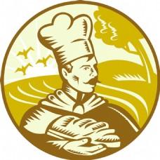 贝克的厨师用面包和农场回来