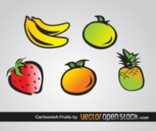 卡通水果矢量