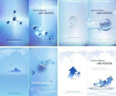 蓝色动感线条箭头地球商务背景图片