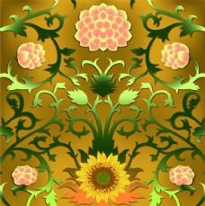 向日葵花紋