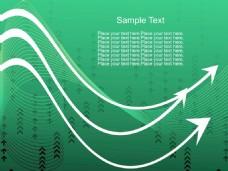 摘要绿色箭头和波背景