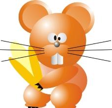 爱吃玉米老鼠图片