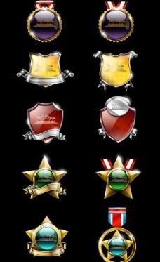 华丽勋章徽章奖牌标签盾牌图片