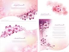 粉色梦幻花纹花纹 展板 底纹图片