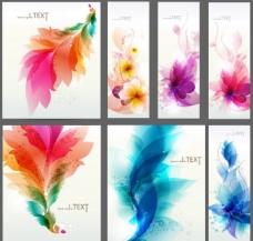 时尚梦幻花纹花朵 展板图片