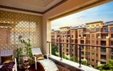 洋房豪宅阳台窗台俯视图片