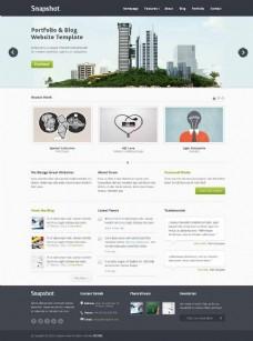 创意团队HTML博客模板
