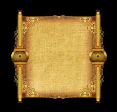 复古金色卷轴