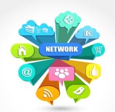 互联网络应用图标图片