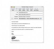 万人迷设计的电子邮件