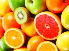 五颜六色的水果背景
