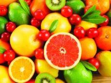 鲜艳水果背景