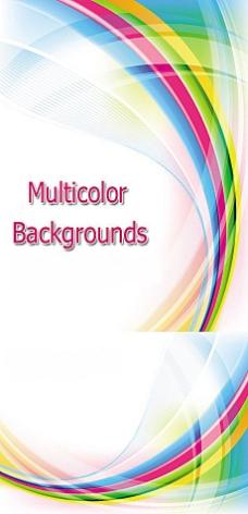 彩虹颜色动感背景矢量素材