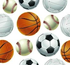 体育用品球类背景图片