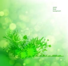 綠色花卉背景 花紋圖片