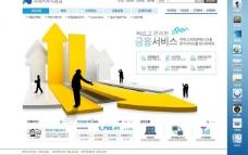 韩国企业网站模板图片