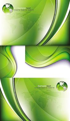 绿色地球抽象动感线背景素材