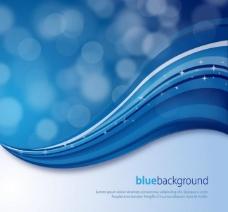 蓝色动感线条圆点梦幻背景图片