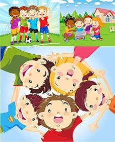 足球宝贝矢量插图