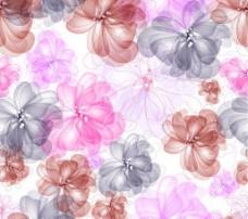 梦幻花卉花纹背景图片