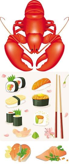 美味日式料理矢量素材