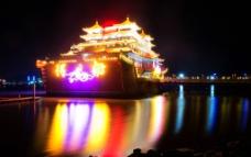 珠海夜景得月舫图片