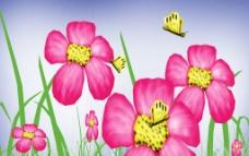 蜜蜂與花草素材圖片