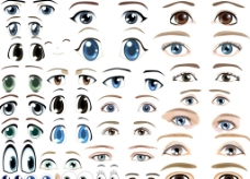 卡通人物眼睛素材图片