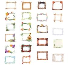 花朵相框素材图片