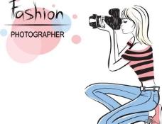 时尚女孩摄影师图片