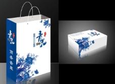 青花瓷礼品包装图片