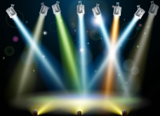 聚光灯舞台灯光背景图片
