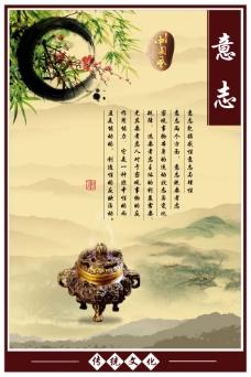 中国风展板挂画传统文化意志