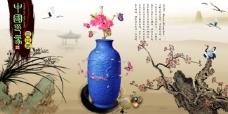 中国风展板挂画中国印象青花瓷