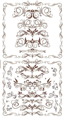 欧式古典装饰纹样元素矢量素材(五)