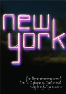 纽约的字体