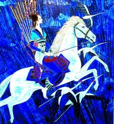 骑白马的少女图片